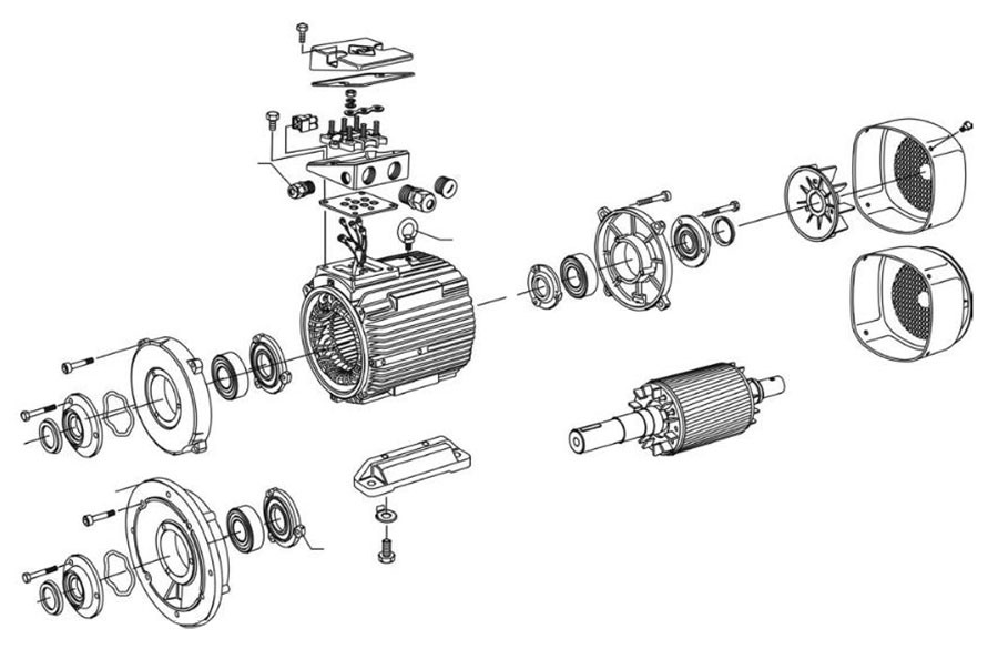 Electric Motor Component - الکتروموتور چیست ؟ و انواع الکتروموتور کدامند ؟